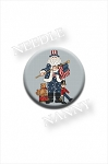 Patriotic Santa Needle Nanny by Sue Hillis Designs