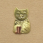 Kitten Mini Needle Nanny Handcrafted Metal Needle Minder by Puffin & Company