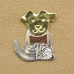 Puppy Mini Needle Nanny Handcrafted Metal Needle Minder by Puffin & Company