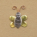Bee Mini Needle Nanny Handcrafted Metal Needle Minder by Puffin & Company