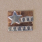 Flag Mini Needle Nanny Handcrafted Metal Needle Minder by Puffin & Company