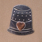 Thimble Mini Needle Nanny Handcrafted Metal Needle Minder by Puffin & Company
