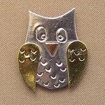 Owl Mini Needle Nanny Handcrafted Metal Needle Minder by Puffin & Company