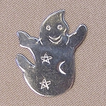 Ghost Mini Needle Nanny Handcrafted Metal Needle Minder by Puffin & Company