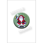 Holly Jolly December Santa Needle Nanny by Amy Bruecken Designs