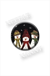 Sweet Snowmen Needle Nanny by Plays With Wool Needle Minder