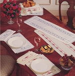 Elegant Table Linens - (Cross Stitch)