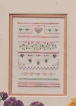 Hearts & Stars Mini Sampler - (Cross Stitch)