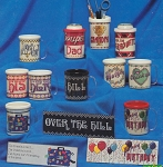 Mugs, Coolers & Caddies - (Cross Stitch)