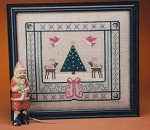 A Deer Christmas - (Cross Stitch)