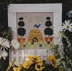 Beehive In a Garden - (Cross Stitch)