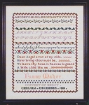 Fanny Maher Sampler - 1880 - (Cross Stitch)