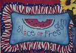 A Slice of Freedom - (Cross Stitch)
