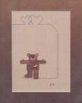6.0 Olympic Bear - (Cross Stitch)