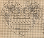Morning Glory Heart - (Cross Stitch)