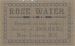 Shaker Rose Water Label - (Cross Stitch)