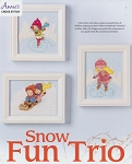 Snow Fun Trio - (Cross Stitch)