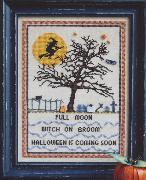 Full Moon Witch - Counted Cross Stitch Pattern