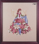 Poinsettia Angel - (Cross Stitch)