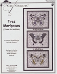 Tres Mariposas (Three Butterflies) - (Cross Stitch)