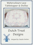 Watercolours Lace Tabletopper & Doilies - (Cross Stitch)
