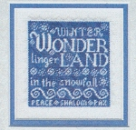 Linger in the Snowfall - (Cross Stitch)