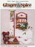 Apple - Beary Growth Chart - (Cross Stitch)