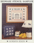 Redware Stencil Sampler - (Cross Stitch)