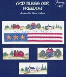 God Bless our Freedom - (Cross Stitch)
