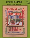 Sports Fanatic - (Cross Stitch)