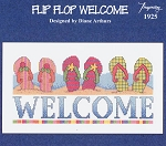 Flip Flop Welcome - (Cross Stitch)