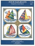 Four Sailboats - (Cross Stitch)