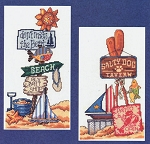 Beach Signs I - (Cross Stitch)