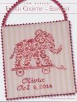 French Country Elephant - (Cross Stitch)