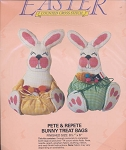 Pete & Repete Bunny Treat Bags - (Cross Stitch)