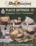6 Place Settings - (Cross Stitch)