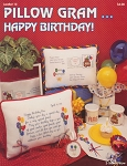 Pillow Gram Happy Birthday - (Cross Stitch)