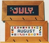 July and August - (Cross Stitch)