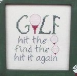 The Game of Golf - (Cross Stitch)