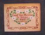 Count your Blessings in Stitches - (Cross Stitch)