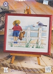 Boy at Beach - (Cross Stitch)