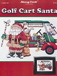 Golf Cart Santa - (Cross Stitch)