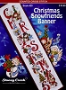 Christmas Snowfriends Banner - (Cross Stitch)