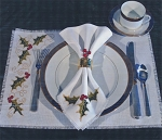 Holly Table Settings - (Cross Stitch)