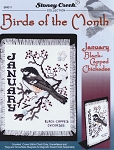 Birds of the Month - January Black-Capped Chickade - (Cross Stitch)