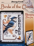 Birds of the Month - February Blue Jay - (Cross Stitch)