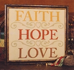 Faith - Hope - Love - (Cross Stitch)