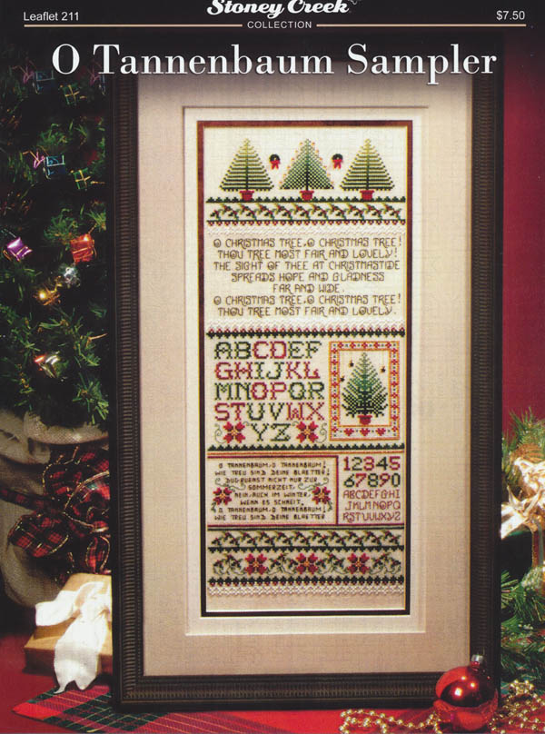 O Christmas Tree In German.O Tannenbaum Sampler Counted Cross Stitch Pattern