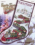 Santa Train Stocking - (Cross Stitch)