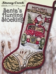 Santa's Hunting Stocking - (Cross Stitch)